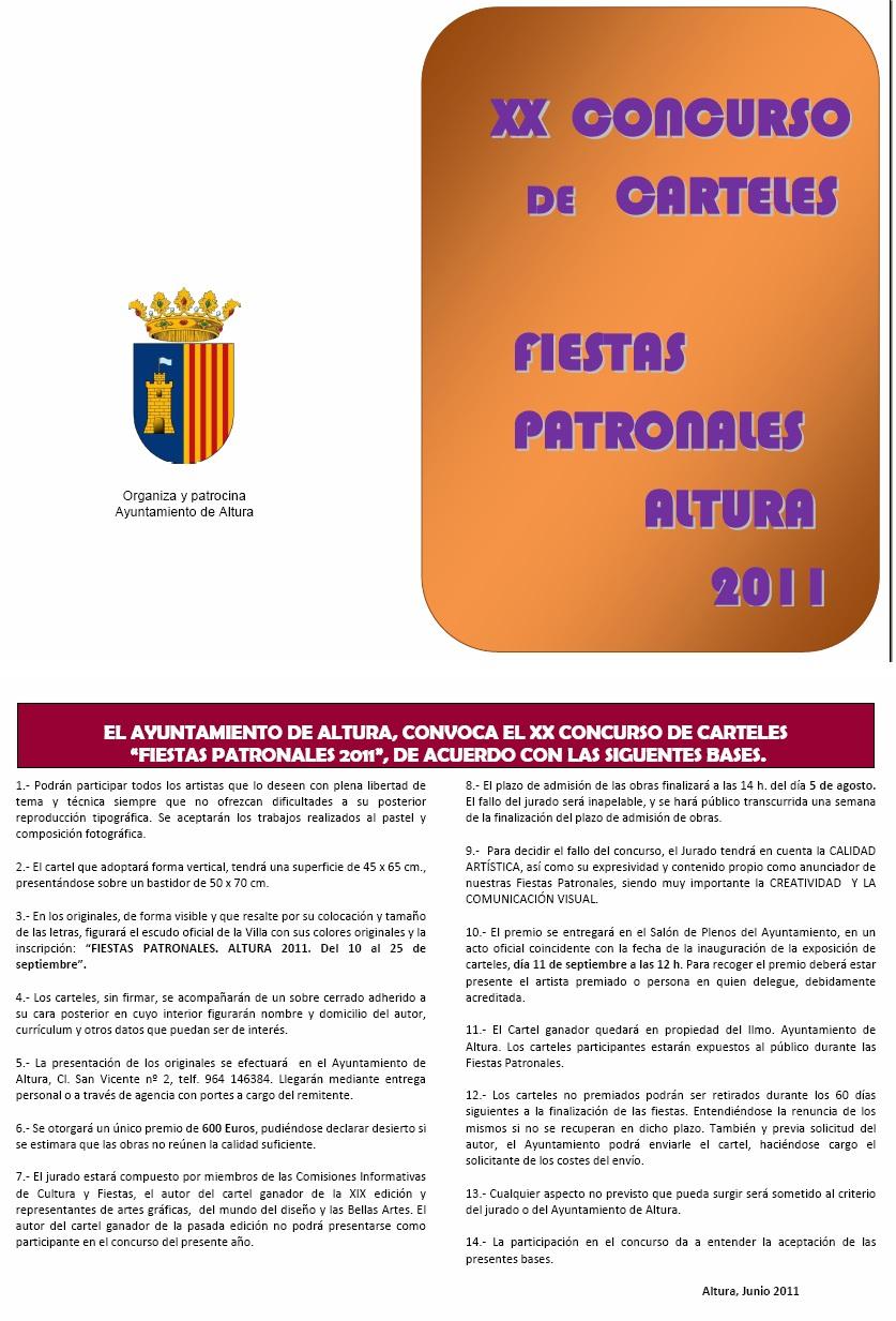 Bases del concurso de Carteles VILLA DE ALTURA - 2011
